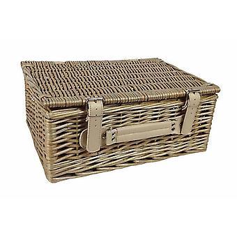 36cm Antique Wash Picnic Basket