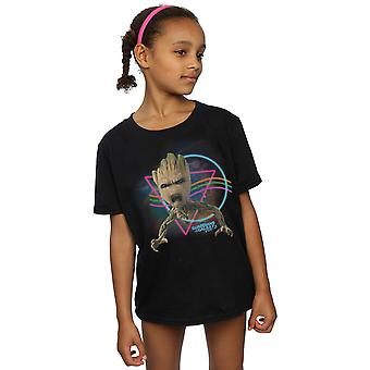Marvel Girls Guardians Of The Galaxy Neon Groot T-Shirt