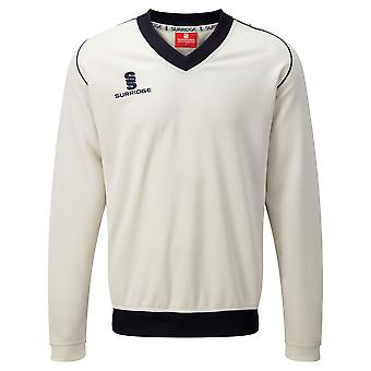 Surridge Boys Junior Fleece gevoerde trui sport / Cricket
