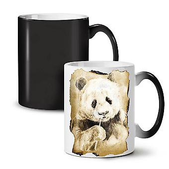 Panda Nature Cute Animal NEW Black Colour Changing Tea Coffee Ceramic Mug 11 oz | Wellcoda
