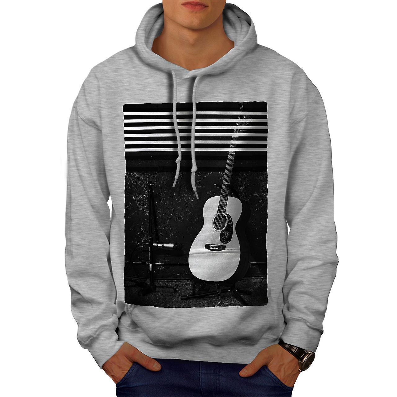 acoustic guitar men greyhoodie wellcoda fruugo. Black Bedroom Furniture Sets. Home Design Ideas