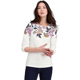 Joule dame/damer Z havn åndbar lang ærmet Jersey T Shirt
