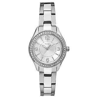 Timex kvinnens Miami Mini rustfritt stål stropp sølv ring TW2P79800 klokken