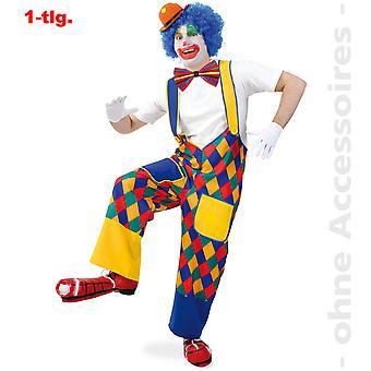 Klovn flerfargede sjekk bukser Clownhose jester bukser unisex drakt