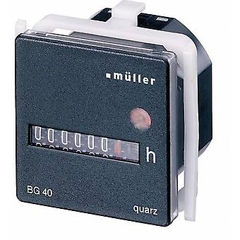 Müller BG4017 Operating hours timer Counter rolls, Panel mount, 45 x 45 mm, 7-digit, 12 - 48 Vdc