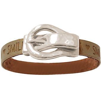 Gemshine armbånd ønsker brune sand bæltespænde magnetisk lås