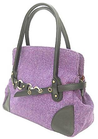 Harris Tweed Handbag R (Purple)