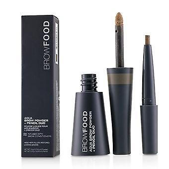 Lashfood Browfood Aqua Brow Powder + Pencil Duo - # Dark Blonde - -