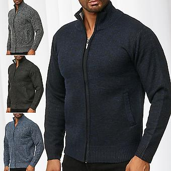 Men's Knitted Vest Transition Jacket Pullover Zip Up Cardigan Jumper Warm Lined