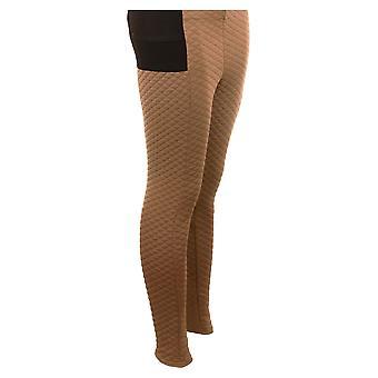 Panie pikowane spodnie legginsy Stretch wysokiej talii wygodne damskie ciepłe zimowe