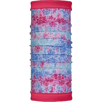 Buff New Polar Reversible Neck Warmer in Firny Multi/Bright Pink