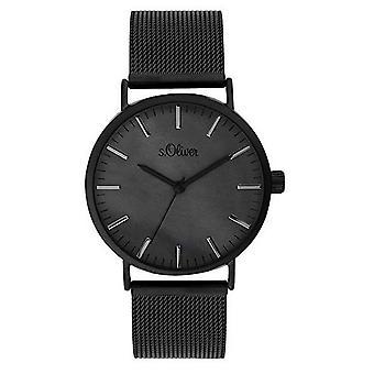 s.Oliver Damen Uhr Armbanduhr Edelstahl SO-3670-MQ