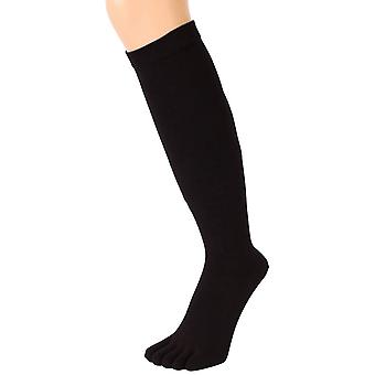 TOETOE Everyday Knee High Toe Socks - Black