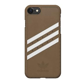 Shell ADIDAS per iPhone 7-Stripe-Brown