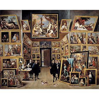 The Gallery of Archduke Leopld Wilhelm, David Teniers, 50x40cm