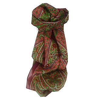 Mûrier rouge de Lexi soie longue écharpe traditionnelle par Pashmina & soie