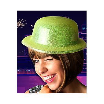 Brokat kapelusz kapelusze żółty melonik