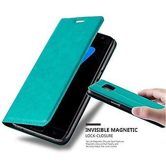 Cadorabo veske til Samsung Galaxy S7 EDGE veske deksel-telefon veske med magnetisk lukking, stativ funksjon og kort veske seksjon-tilfelle deksel tilfelle tilfelle bok folding stil