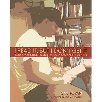 Jag läste det men jag får inte det: läsförståelse strategier för unga läsare
