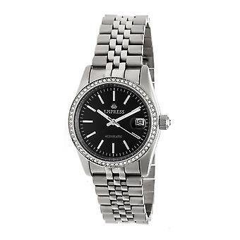 Empress Constance Automatic Bracelet Watch w/Date - Silver/Black