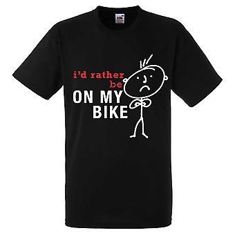 Haluan mieluummin olla Bike t-paita miesten
