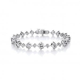 Cavendish French Silver and CZ Stunning Graduated Bracelet