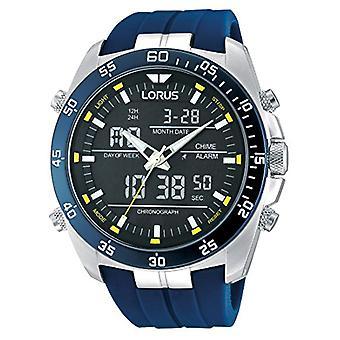 Analog Digital Armbanduhr Lorus Quarz Männer mit Kautschukband RW617AX9