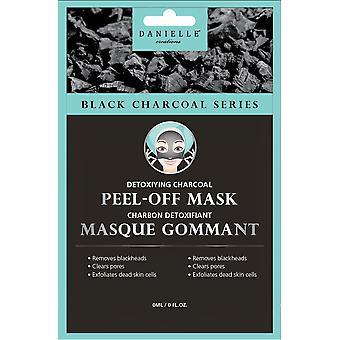 Węgiel drzewny maski na twarz Danielle - detoksykujący węgiel Peel-Off Mask - 4 szt.