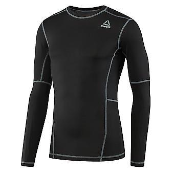 Reebok Workout bereit Mens Long Sleeve Compression Baselayer Shirt schwarz
