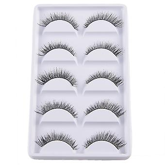 10pcs luxurious long false eyelashes-fine