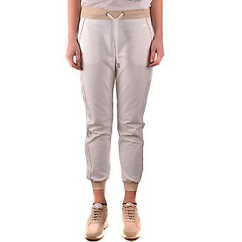 Elisabetta Franchi Ezbc050155 Women's White Cotton Joggers