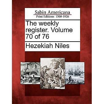 Veckovisa registret. Volym 70 76 av Niles & Hiskia