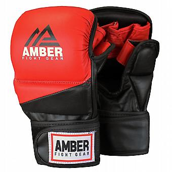 Amber Pro Style Boxe MMA Grappling Formation Sparring Gloves Rouge / Noir Large