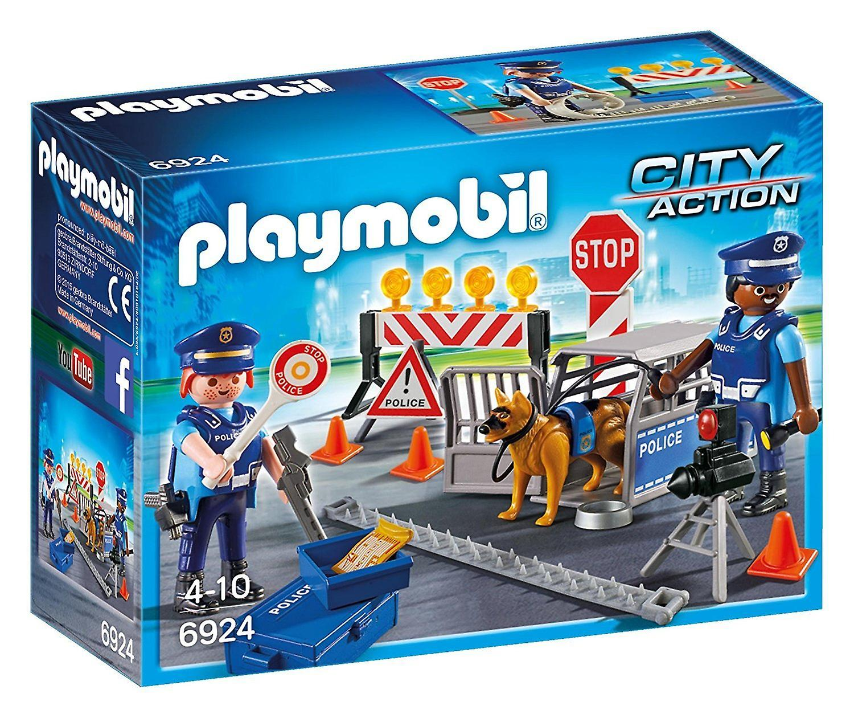 Playmobil politiet vejspærring