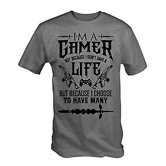 Im a gamer t shirt funny video games many lives retro