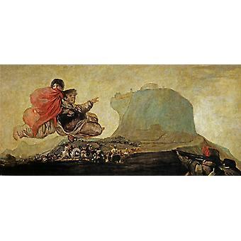 Fantastic Vision or Asmodea,Francisco Goya,80x37cm