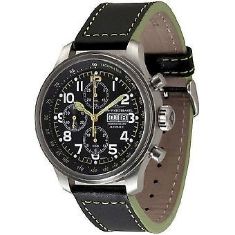 Zeno-watch mens watch OS pilot Chrono-date 8557TVDD-7-a18