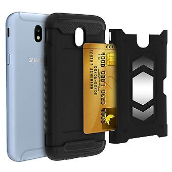 Shockproof Hybrid Protection Case, Samsung Galaxy J7 2017 Forcell Black