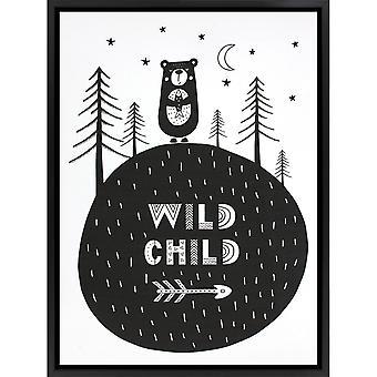 Grindstore Wild Child Canvas Print