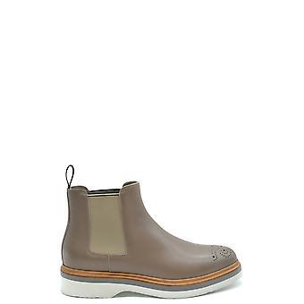 Santoni Ezbc023008 Women's Grey Leather Ankle Boots