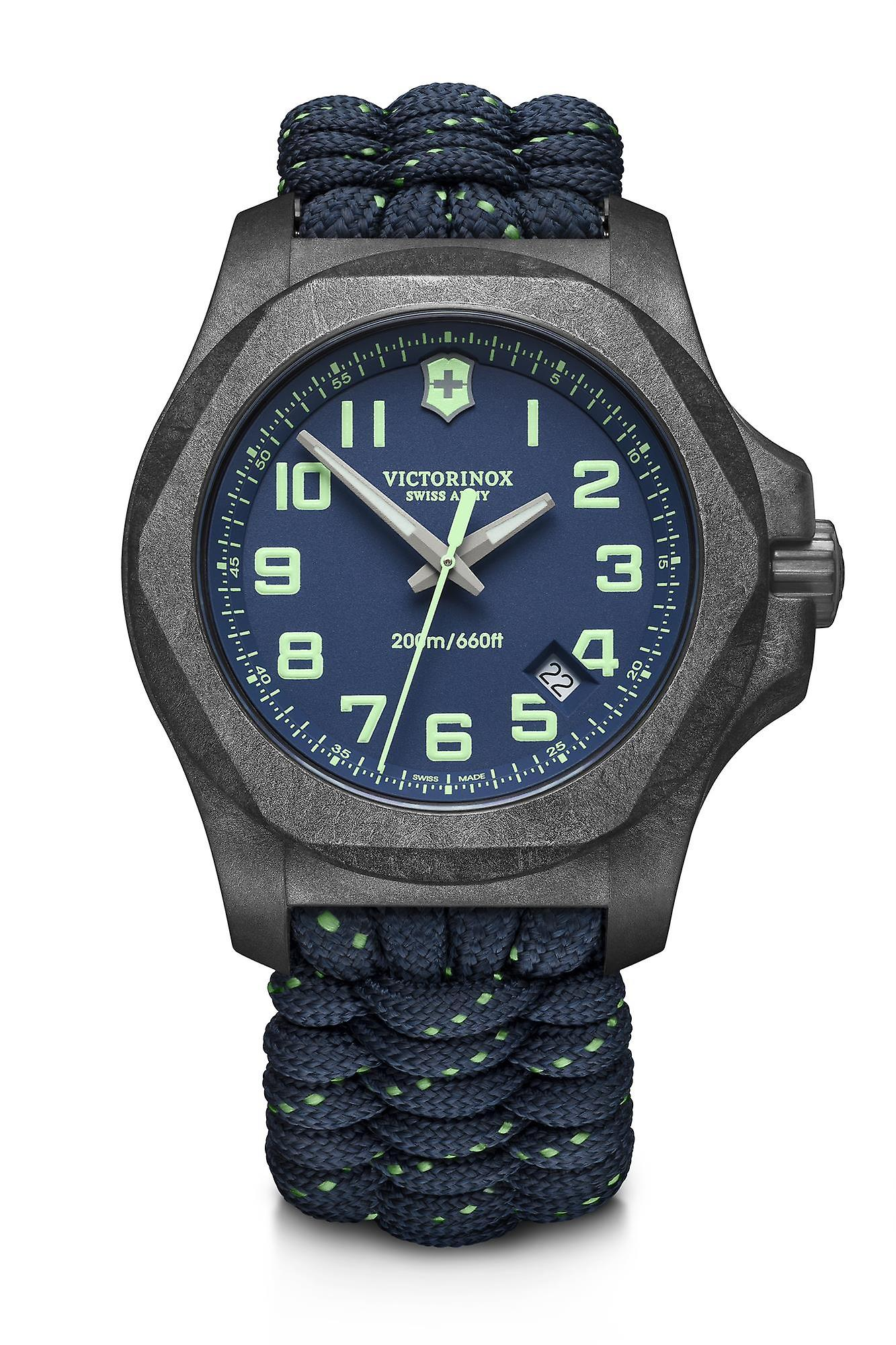 Victorinox I.N.O.X Grey Carbon Case Space Tested Super Luminova Mens Watch Set 241860