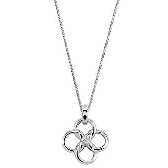 Orphelia 925 Silver Pendant with Chain Flower with Zirconium
