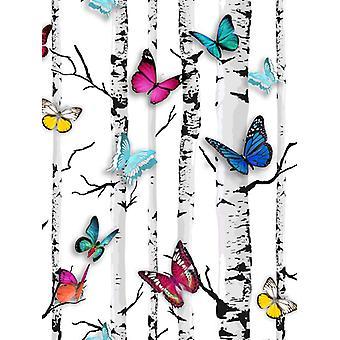 Emperor's Garden Butterfly Wallpaper White Muriva 102529
