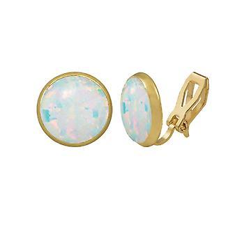 Evig samling Symphony hvite Opal gull Stud klipp på øredobber