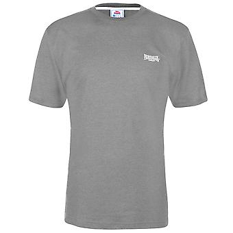 Lonsdale Herre plain tee top T-shirt T shirt kortærmet Crew Neck