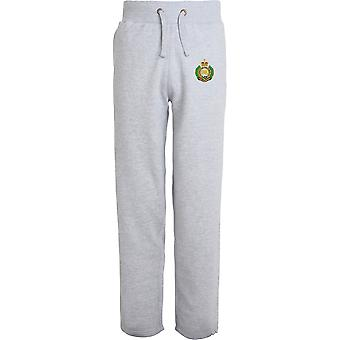 Royal Engineers-licenseret British Army broderet åbne hem sweatpants/jogging bunde