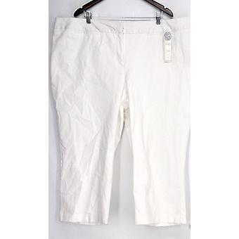 Charter Club Plus Pants Embellished Detail White Womens
