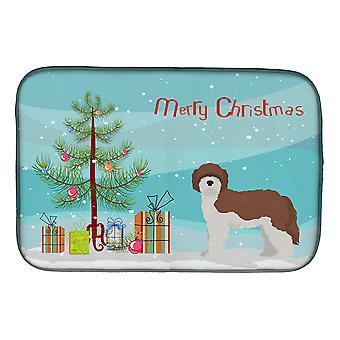 Carolines Treasures  CK3867DDM Sheepadoodle Christmas Tree Dish Drying Mat