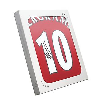 Dennis Bergkamp Signed Arsenal Home Shirt In Gift Box