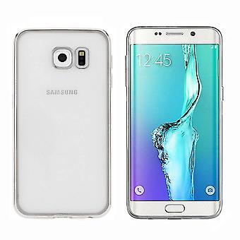 Samsung S6 Edge Plus Silver Case - Bumper Backcover Clear